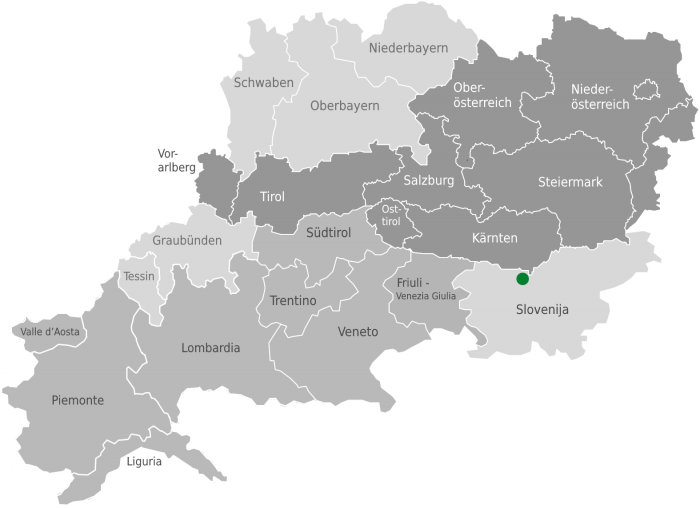 Location of Jezersko