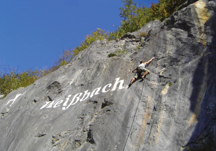 The climbing area in Weißbach